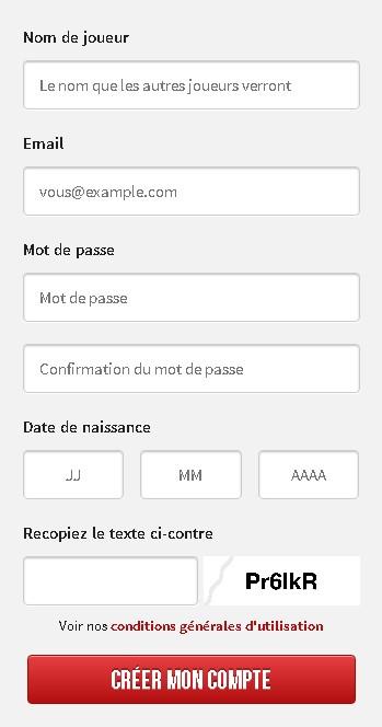 Winamax incrire mobile app